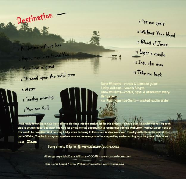 Destination Album cover - back